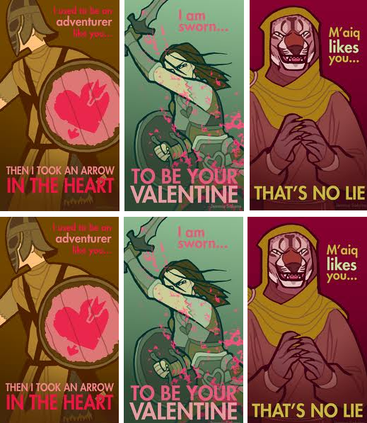 Skyrim VDay cards by alexusart on DeviantArt – Skyrim Valentines Card