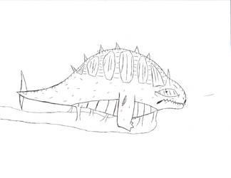 dino slug thing? by comicsfordays
