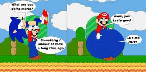 Mario eats sonic