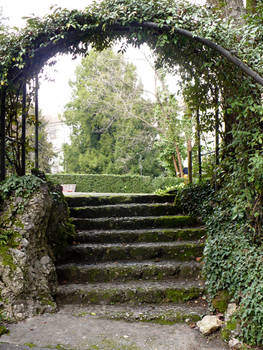 Steps under Archway_Stock