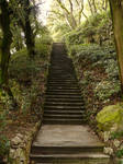 Stone Stairs in a Garden-Stock