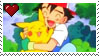 Ash and Pikachu fan STAMP by diamond-in-the-ruff