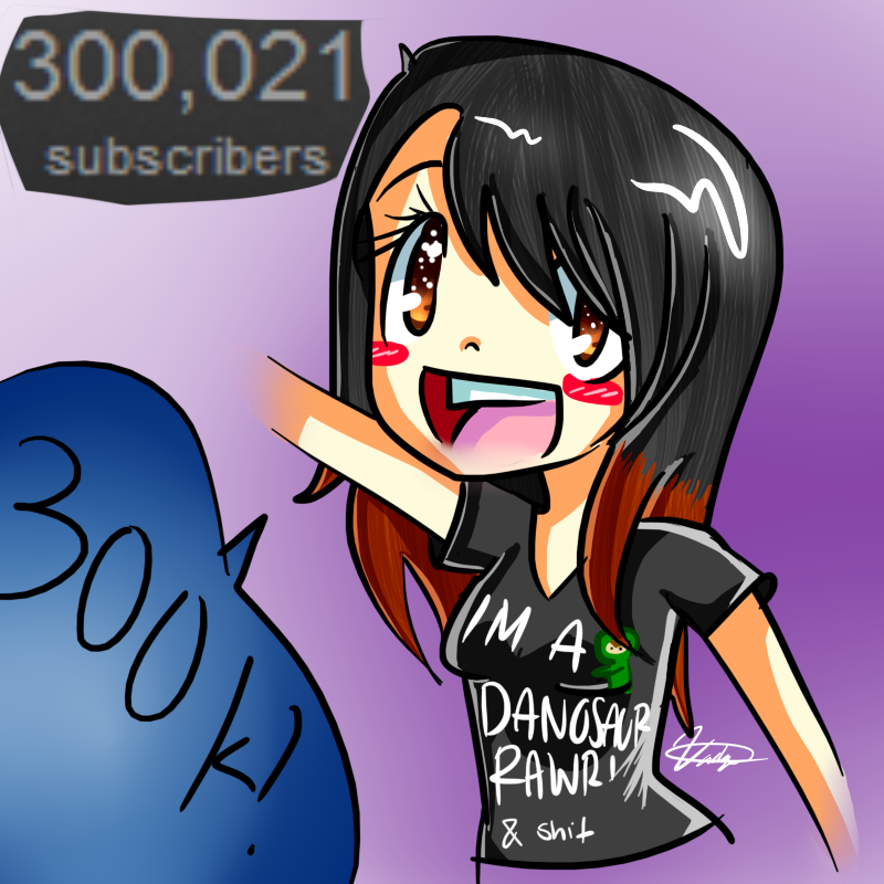 300,000 Subscribers! by bunnybacon