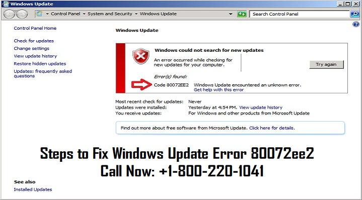 Dial 18002201041 fix Windows update error 80072ee2 by jacobemore on