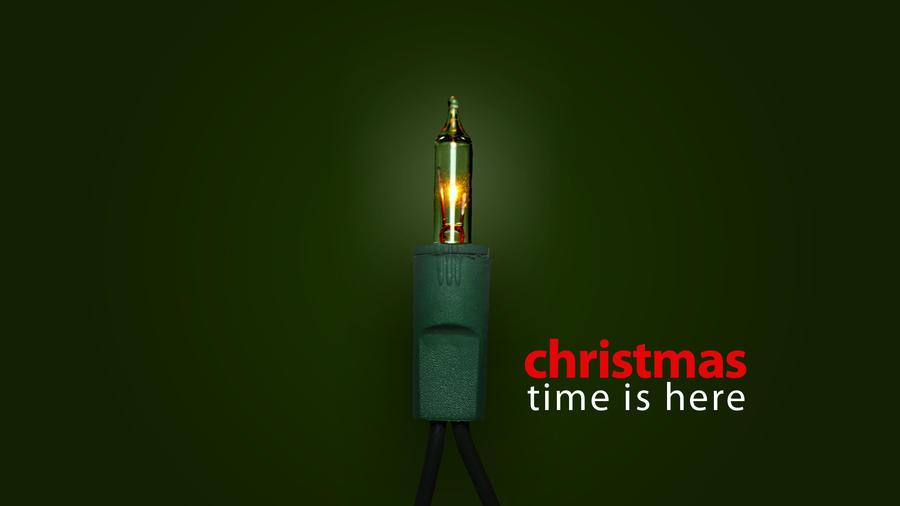 Christmas Light Wallpaper by MacTechieDesign