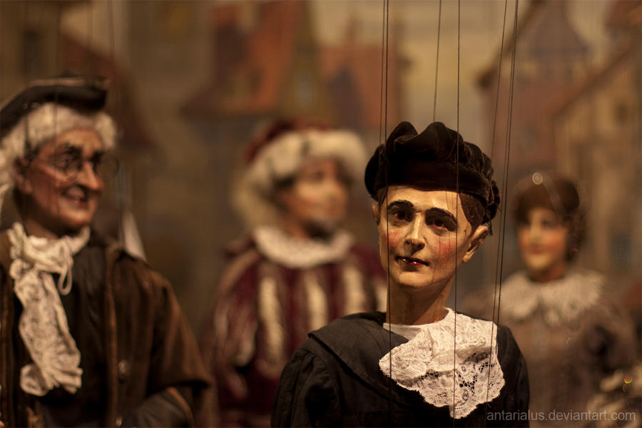 Puppets on a string by antarialus