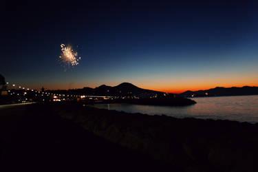 Sunset in Naples by Nunula