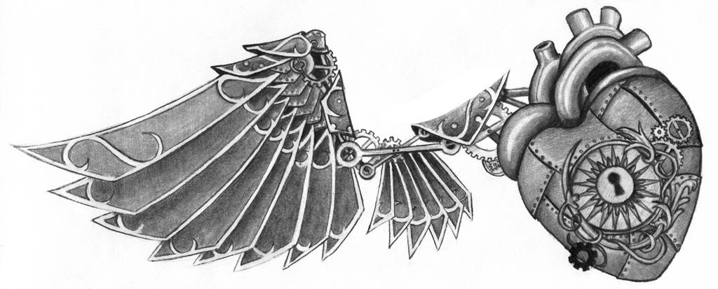 Redone Steampunk Tattoo - chest tattoo