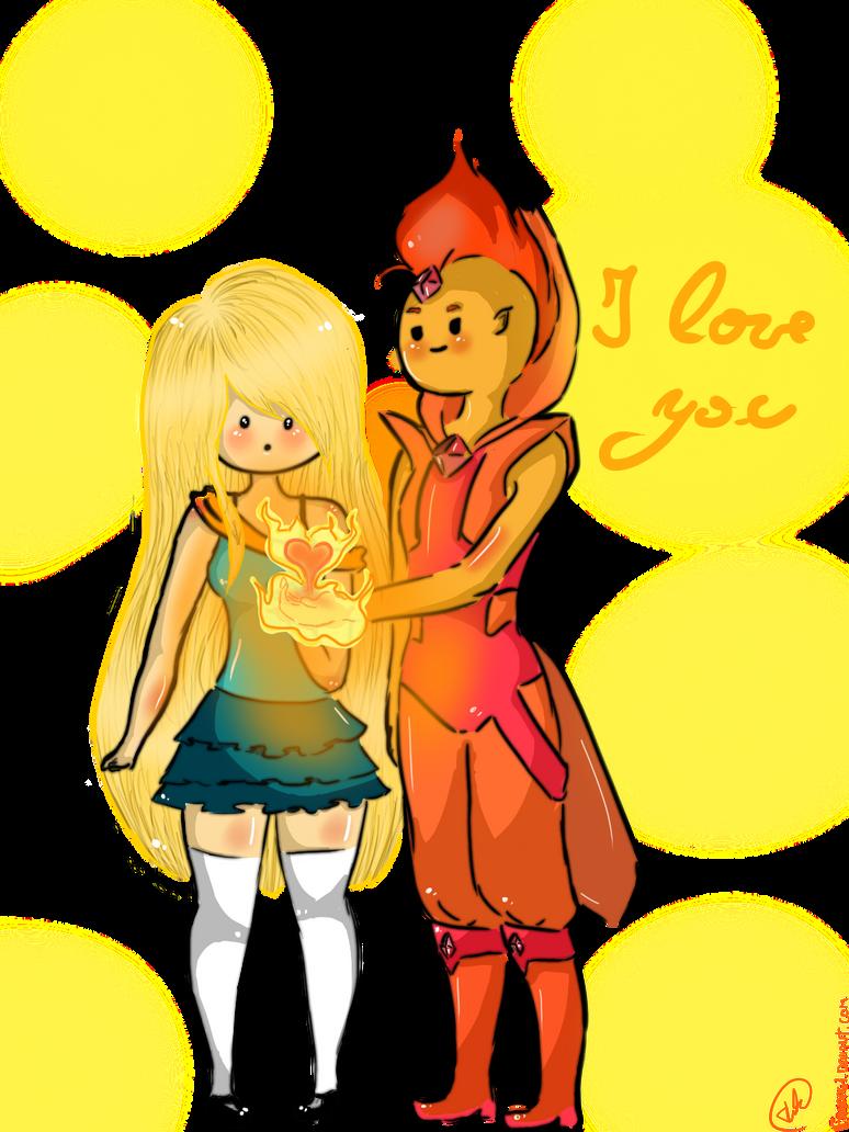 I love you - Flameonna by Fanppg1