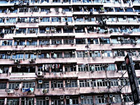 apartment windows - Hong Kong