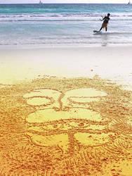 beach monkey by maskotero