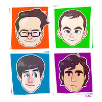 Big Bang Theory Guys by artieyoon
