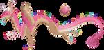 ADPT: Pink Sprinkle Donut Draconequus by BijutsuYoukai