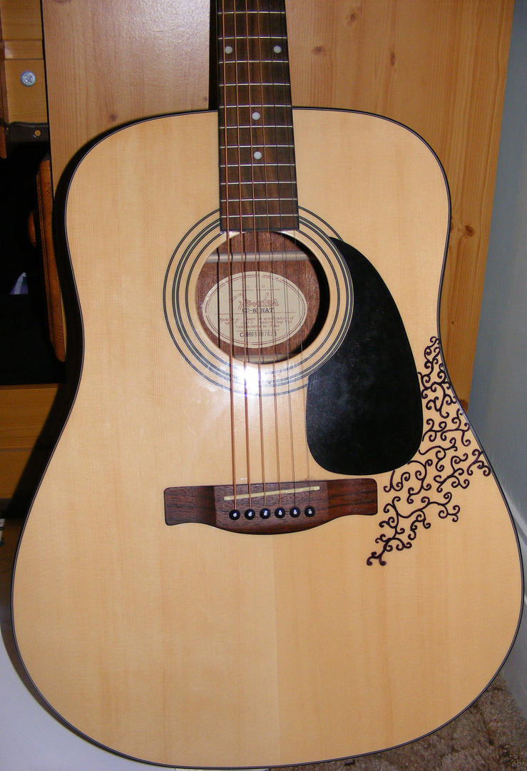 Acoustic guitar design by amiemo 1 on deviantart for Acoustic guitar decoration