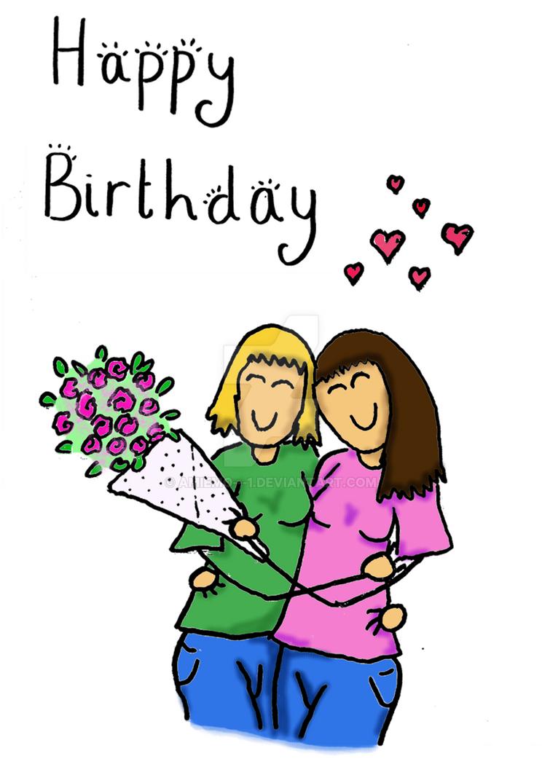 Happy Birthday card for gay women by amiemo1 on DeviantArt – Birthday Card Gay