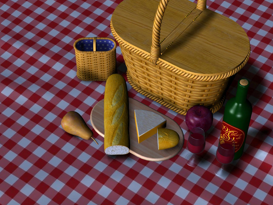 Sunset picnic by DarkRiderDLMC