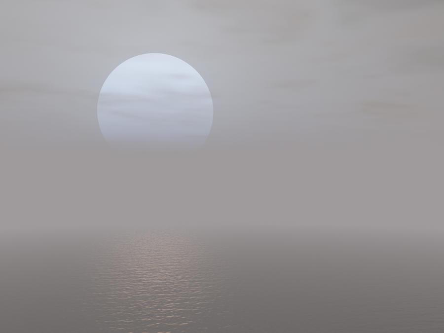 pale sun and se...