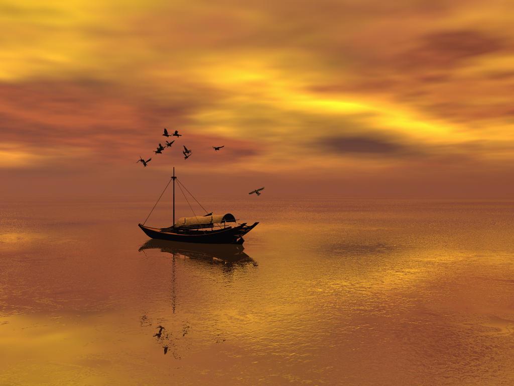 Sampan Sky: Fire and Water by DarkRiderDLMC