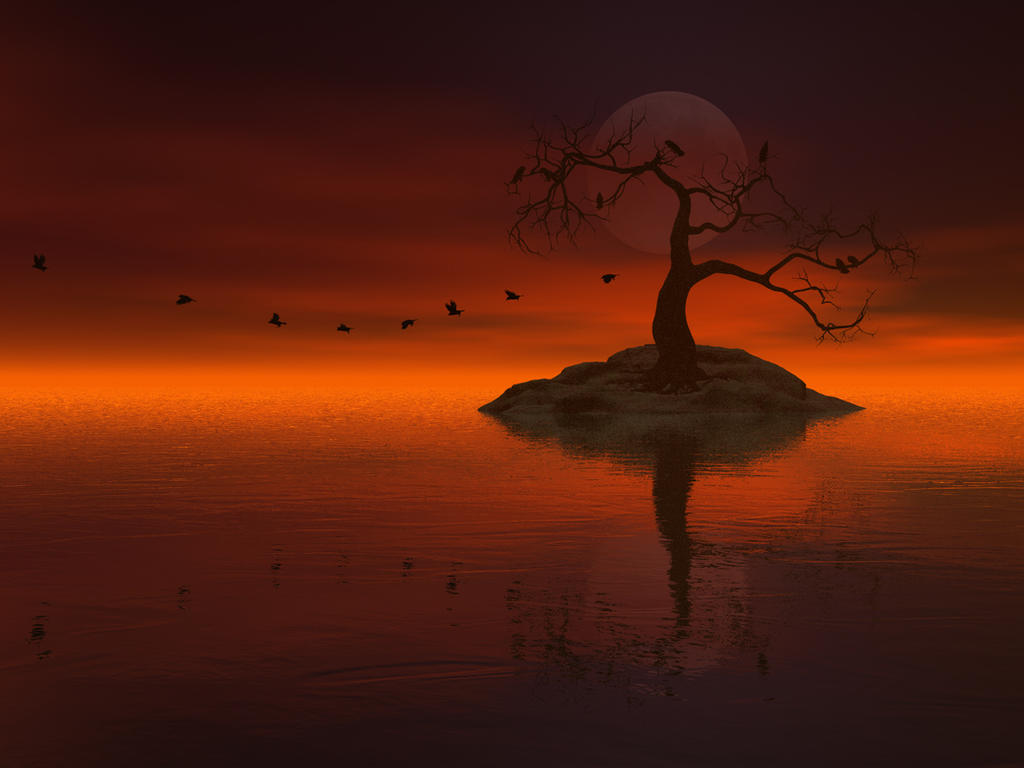 Red Sky, Black Wings by DarkRiderDLMC