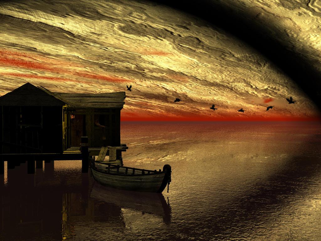 set of sun, rise of moon, by DarkRiderDLMC