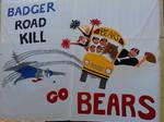 badger road kill by Animelandofcosplay
