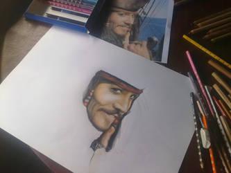 Jack Sparrow proceso by AileonArts