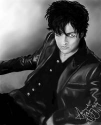 Billie Joe Armstrong in BW by AsharahWolfSong