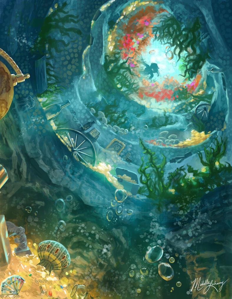 mermaid grotto by seaoffireflies on deviantart