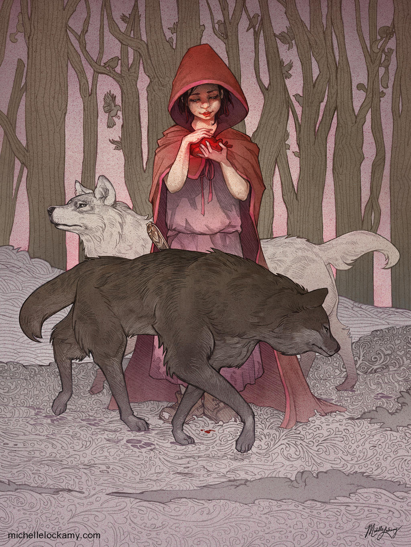 Red Riding Hood's Valentine by SeaOfFireflies on DeviantArt
