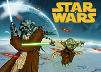 Jedi's back by Hagenmerac