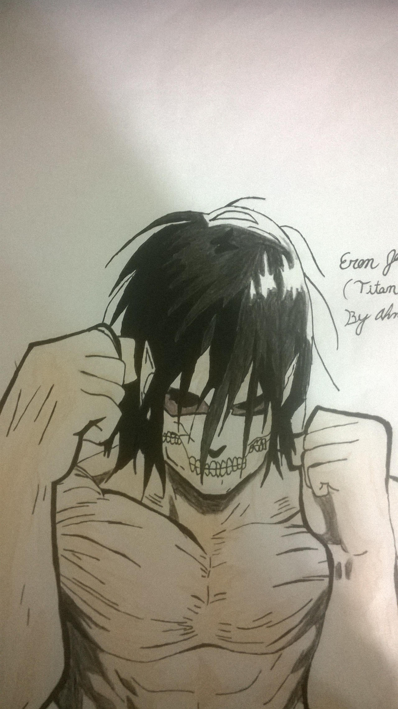 Attack On Titan EREN (TITAN FORM) by animeart67 on DeviantArt
