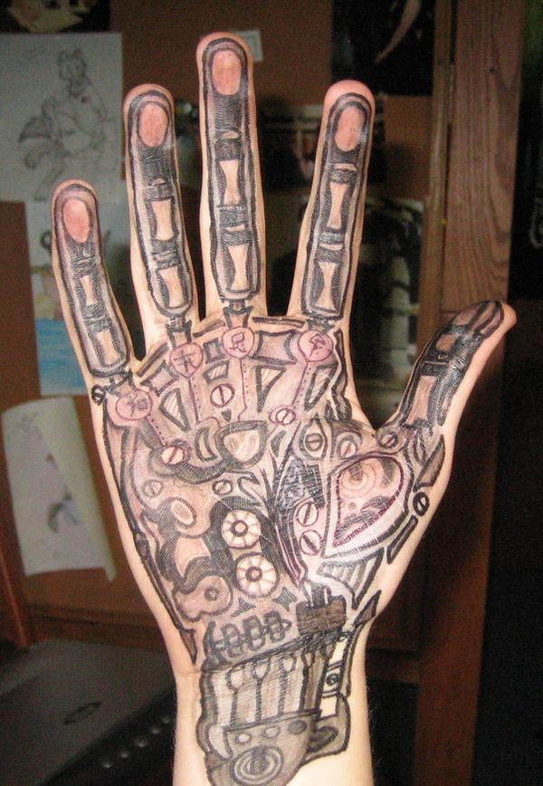 cyberpunk hand by bonvallet on deviantart. Black Bedroom Furniture Sets. Home Design Ideas