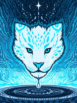 Psychedelic Snow Leopard