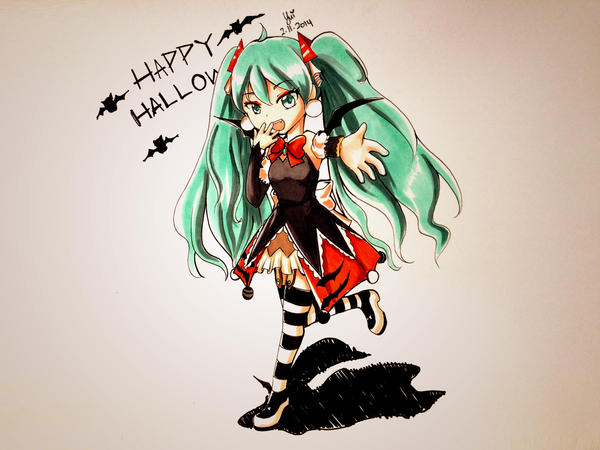 Halloween Miku - Belated Halloween! by kaorune