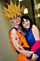 Goku and Chi Chi by Alexcloudsquall