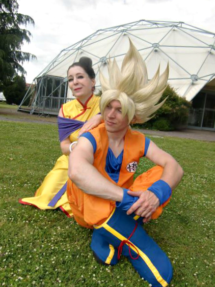 Goku and Chi-Chi by Alexcloudsquall