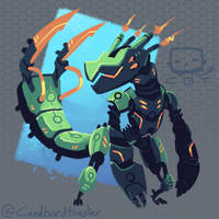 Mecha Dragon by Cardbordtoaster