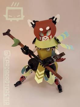 Lego Papercraft Hybrid Red Panda Girl Thing
