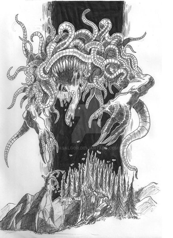 the Dark Godess Shub-Niggurath by Asalgor