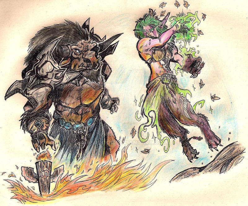 Shaman vs Druid by Asalgor
