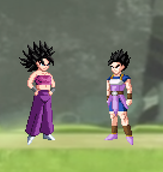 Caulifla karifurawa and Kyabe Dragon Ball Super by joeflizz