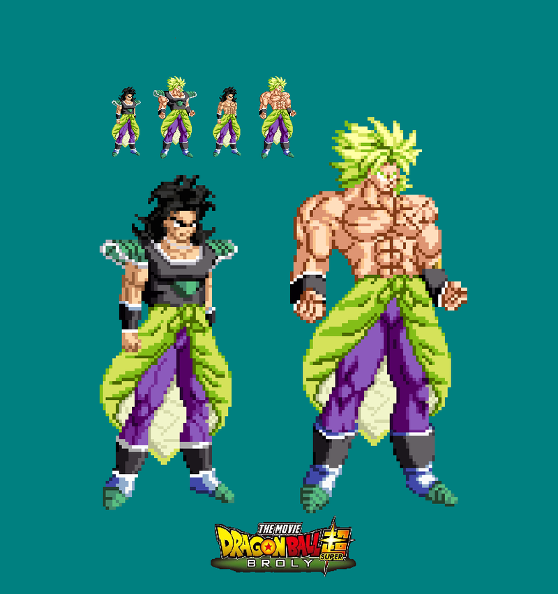 new broly movie 2018 sprite by joeflizz on deviantart