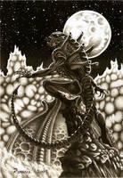 Hiss at the Moon by Bungle0
