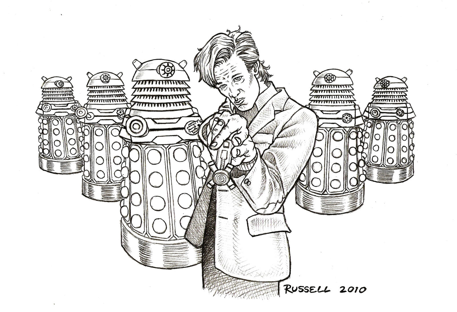 Doctor who vs the daleks by bungle0 on deviantart for Dr who coloring pages