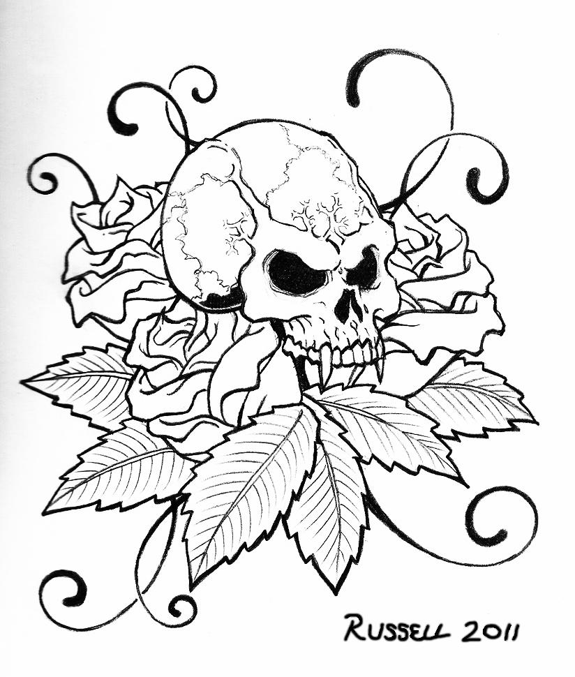 Skull Tattoo by Bungle0 on DeviantArt
