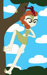 Autumn Blaze Up In The Trees by equestriaguy637