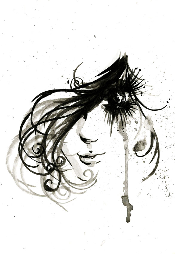 ink girl by AUT0J0NES