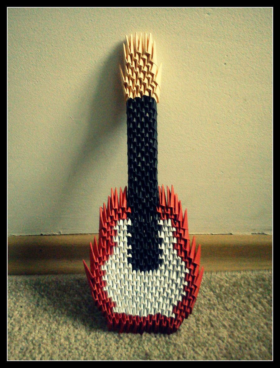 origami guitar by schnauzerka on deviantart