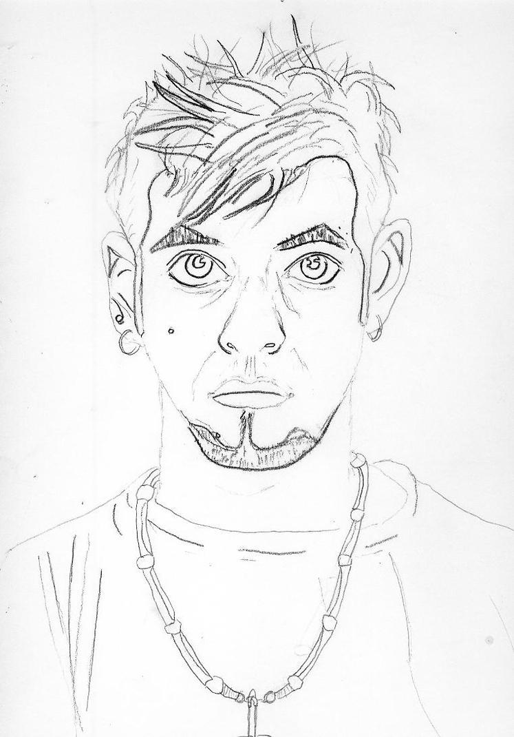 Contour Line Drawing Self Portrait : Contour line self portrait by xxdspprngboyxx on deviantart