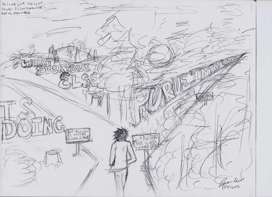 The Road Not Taken Illustration by dorandsugar on DeviantArt